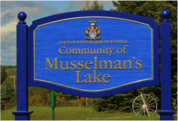 New Mussleman's Lake signs