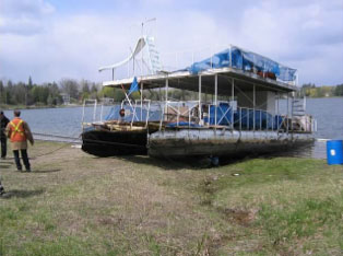 Toxic barge removed from Lake