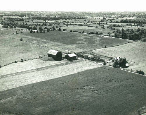 Lee Sand & Gravel Pit site circa 1950 prior to excavations