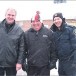 Deputy Mayor Phil Bannon, Mayor Wayne Emmerson and one of our Finest.