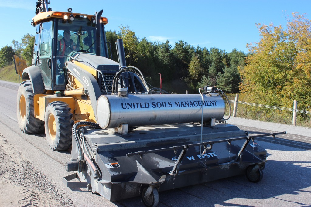 United Soils Management's new street cleaner/sweeper