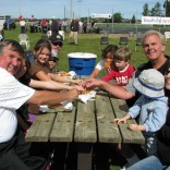 Councillor Bannon, Mayor Emmerson and friends have fun time at the Fall Fair