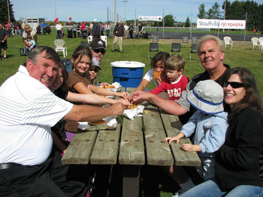 Councillor Bannon, Mayor Emmerson & friends having a fun time at the Fall Fair