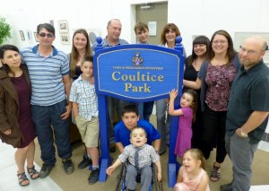 Coultice Family at 2014- Coultice Park Dedication