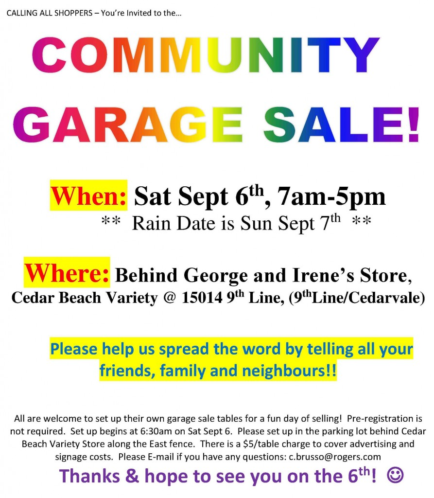 Garage Sale at Musselman's Lake