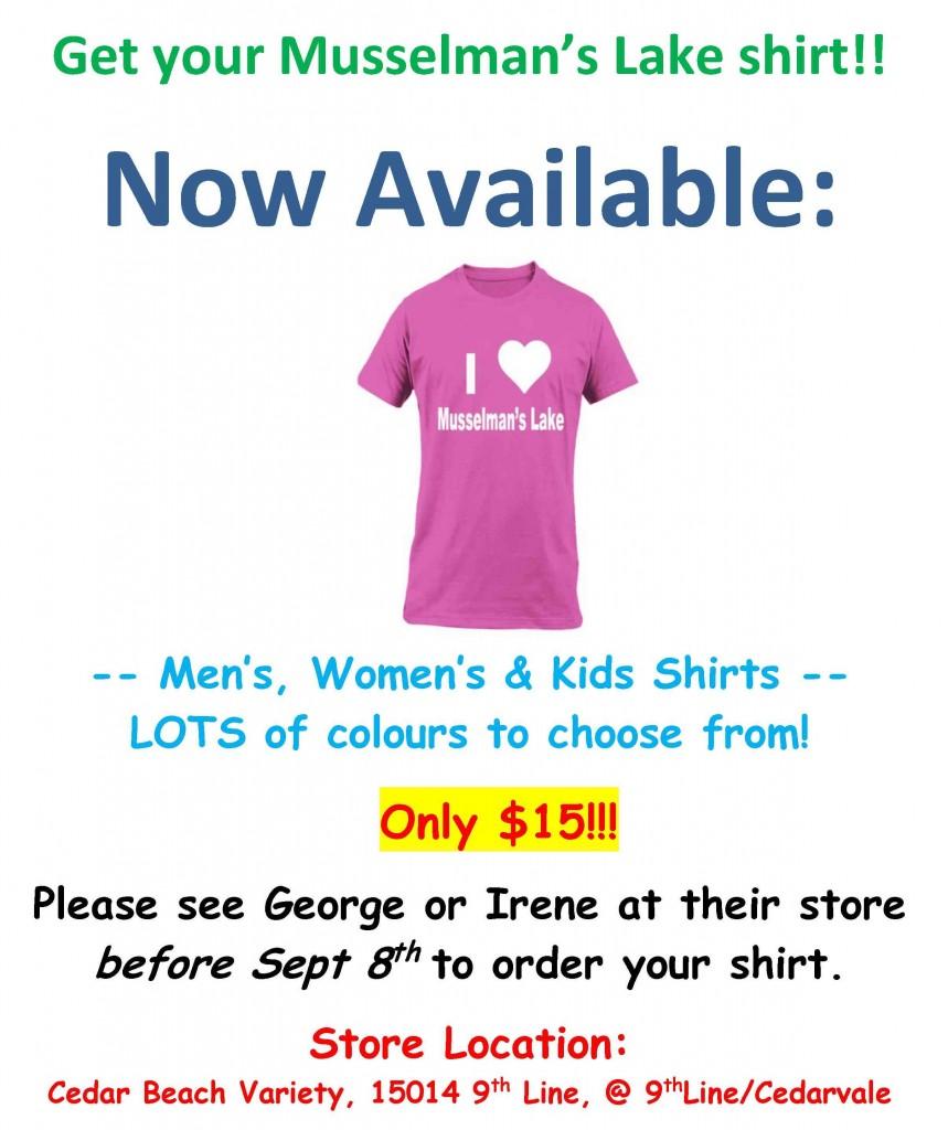 Musselman's Lake T-shirts