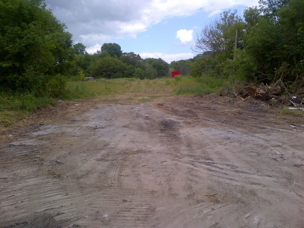 Coultice Park building leveling and land clearing.