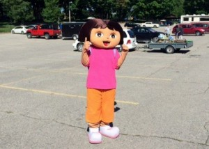 Dora at Musselman's Lake Community Garage Sale
