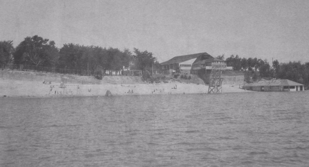 Historic photo of Cedar Beach, Musselman's Lake