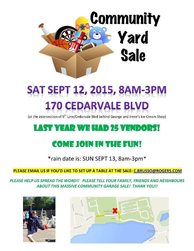 Community Yard Sale 20151