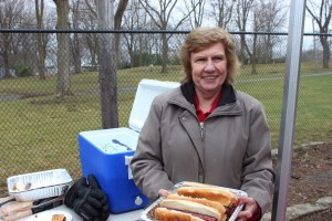 Linda Wigmore helping out on EarthDay