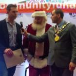 Kyle receiving award from Mayor Altman